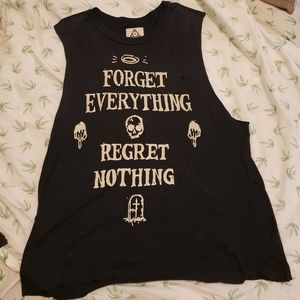 EUC UNIF Forget Everything Regret Nothing muscle T